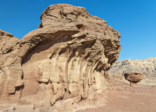 Geological formation in Timna park, (Desert's mushroom) Royalty Free Stock Photos