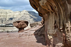 Geological formation of Timna park, Israel Royalty Free Stock Photo