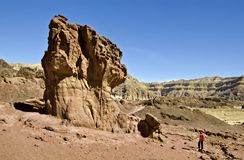 Geological formation of Timna park, Israel Stock Photography