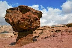 Geological formation, Timna park, Israel Royalty Free Stock Image