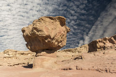 Geological formation in Timna park, Israel Royalty Free Stock Photo