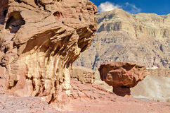 Geological formation in Timna park, Israel Royalty Free Stock Image