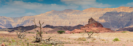 Geological formation in Timna park, Israel Stock Photos