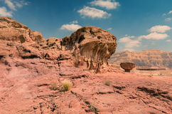 Geological formation in Timna park, Israel Stock Photography