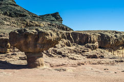 Geological formation in Timna park Stock Image