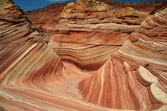 Geological formation - the wave. Vermilion Cliffs stock photography