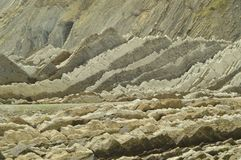 Geological Formations In Beach Of The Flysch Type Geopark Basque Route UNESCO. Filmed Game Of Thrones. Itzurun Beach. Geology Land. Scapes Travel. Zumaia stock images