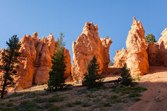 Geological formations in Bryce canyon Royalty Free Stock Photography