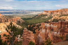 Geological formations in Bryce canyon Royalty Free Stock Photo