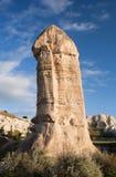 Geological formations in Cappadocia, Anatolia, Turkey. Unique geological formations in Love valley, Cappadocia, Central Anatolia, Turkey Stock Image