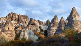 Geological formations in Cappadocia, Turkey Royalty Free Stock Photos
