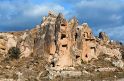 Geological formations in Cappadocia, Turkey Royalty Free Stock Photography