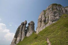 Ciucas Mountains. Geological formations, Ciucas mountain in Romanian Carpathians Royalty Free Stock Photo