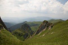 Ciucas Mountains. Geological formations, Ciucas mountain in Romanian Carpathians Stock Image