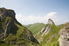 Ciucas Mountains. Geological formations, Ciucas mountain in Romanian Carpathians Stock Photos