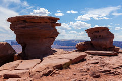 Geological formations  in Dead horse view in Utah Stock Photos