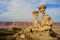 Geological formations in Ischigualasto, Argentina. Stock Photography