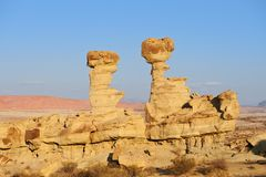 Geological formations in Ischigualasto, Argentina. Stock Image