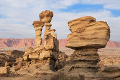 Geological formations in Ischigualasto, Argentina. Royalty Free Stock Photography
