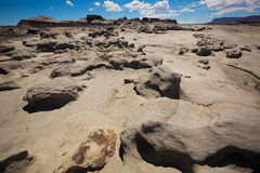 Geological formations in Ischigualasto Stock Photography
