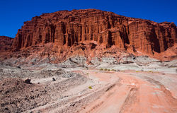 Geological formations in Ischigualasto Royalty Free Stock Photography