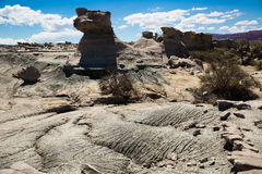 Geological formations in Ischigualasto Royalty Free Stock Photo