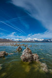 Geological Formations in Mono Lake Stock Image