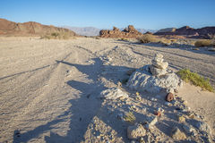 Geological formations in nature desert park of Timna, Israel Royalty Free Stock Photos