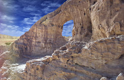 Geological formations in nature desert park of Timna, Israel Stock Photo