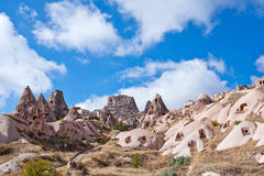 Geological formations in Pigeon valley, Cappadocia, turkey Royalty Free Stock Photo