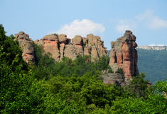 Geological formations of rock towers Stock Photography