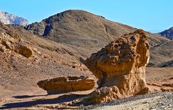 Geological formations in Timna park Stock Photo