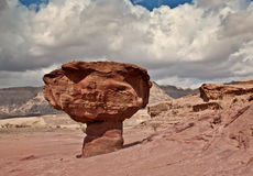 Geological formations in Timna park Royalty Free Stock Photography