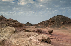 Geological formations of Timna park Royalty Free Stock Image