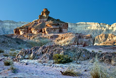 Geological formations in Timna park, Israel Royalty Free Stock Images