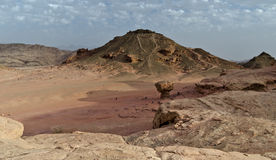 Geological formations in Timna park, Israel Stock Photography