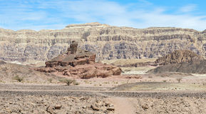 Geological formations in Timna park, Israel Royalty Free Stock Image