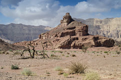 Geological formations in Timna park, Israel Stock Images