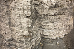 Geological layers Royalty Free Stock Images
