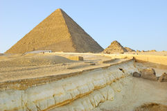Geological layers near Giza pyramids Stock Image