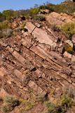 Geological layers Royalty Free Stock Photos