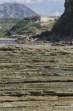 Geological layers on the Sardinian coast Stock Photos