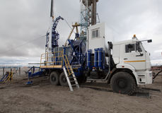 Geological machine Royalty Free Stock Photo