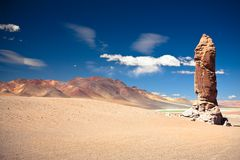 Geological monolith near Salar de Tara, Chile Royalty Free Stock Photos