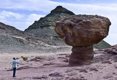 Geological park Timna, Israel Royalty Free Stock Images