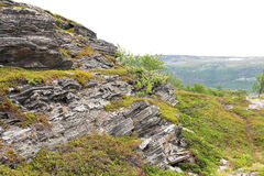 Geological rock layers Stock Images