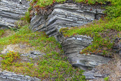 Geological rock layers Royalty Free Stock Photos