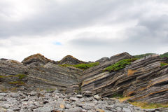 Geological rock layers Royalty Free Stock Images