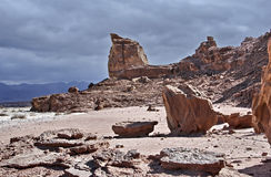 Geological stones of Park Timna Stock Image