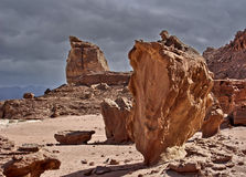 Geological stones of Timna park Royalty Free Stock Photography